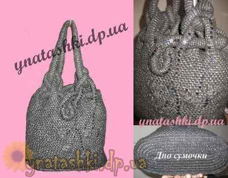 вязанные сумки из полиэтиленовых мешков - Сумки.