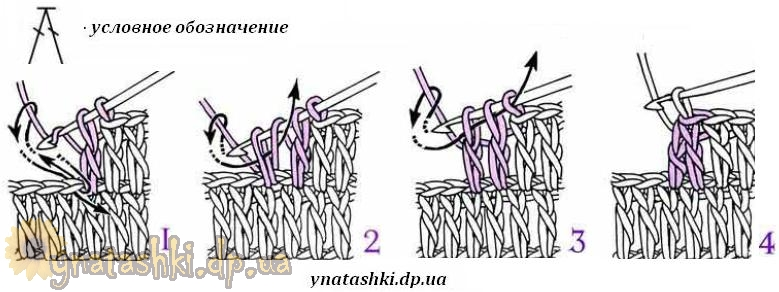 Как сделать убавки столбиками с накидом