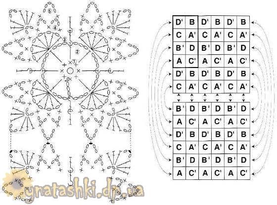 схему сбора квадратиков в