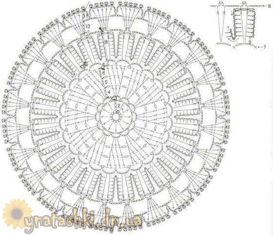 Схема подставки крючком