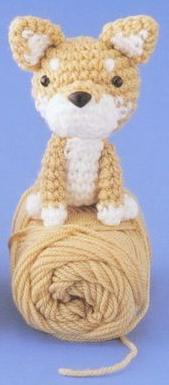 Вязанная собака амигуруми