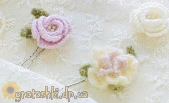 Цветочные украшения для волос