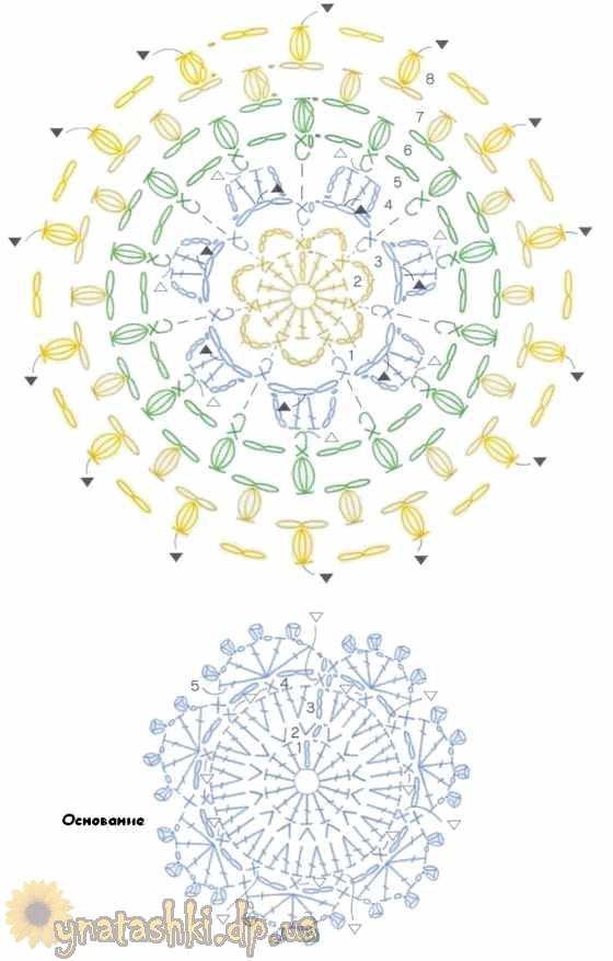 Игольница крючком схема