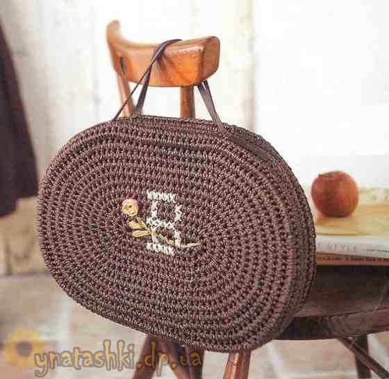 Вязаная сумка крючком
