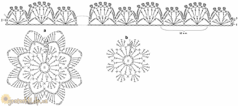 Бусы крючком схема вязания
