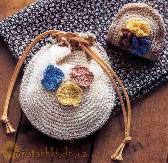 Косметичка и кошелек для мелочи с цветами