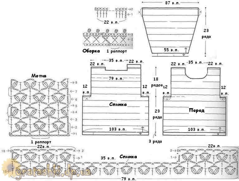 схема вязания кофты девочке