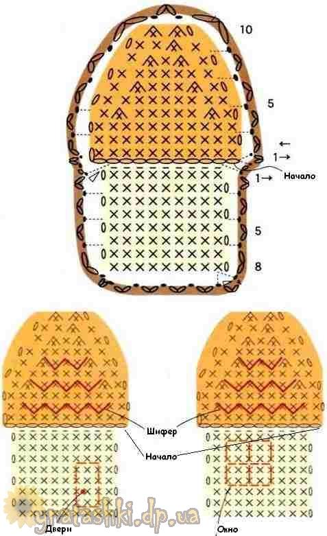 Схему вязания брелока можно