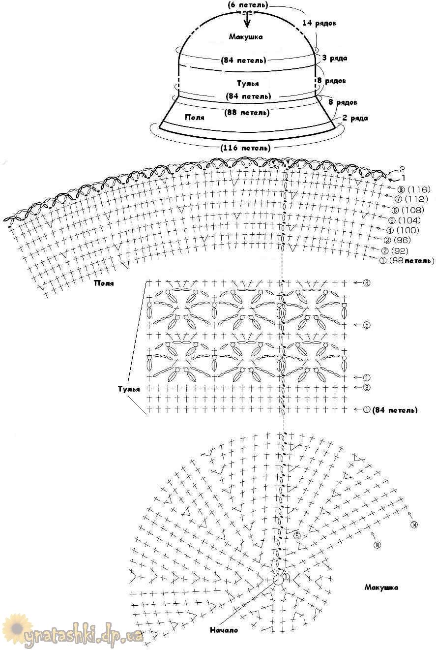 2014 схемы вязания розы schemes of knitting rose http