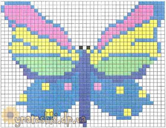 Вязаный топ с вышивкой Бабочка