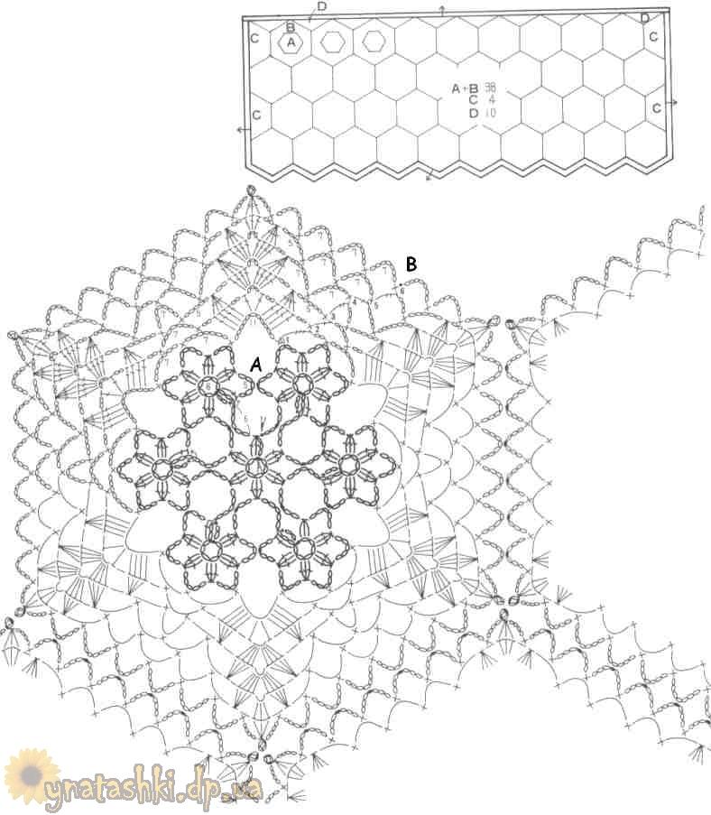 Схема вязания штор