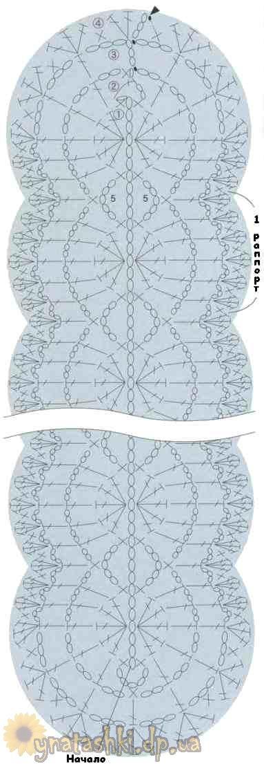 Схема волнистого шарфа крючком