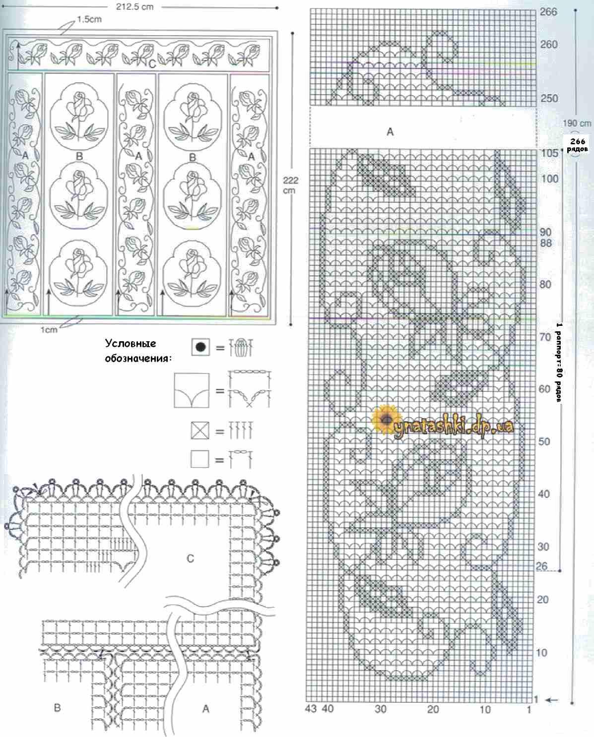 Плед крючком филейное вязание схемы