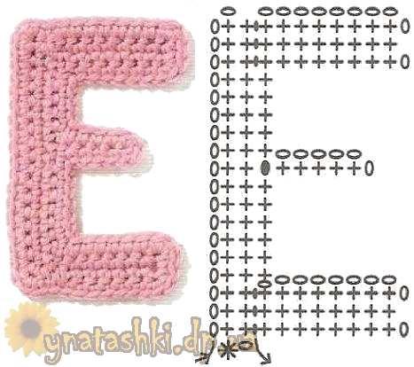 Вязаная буква E