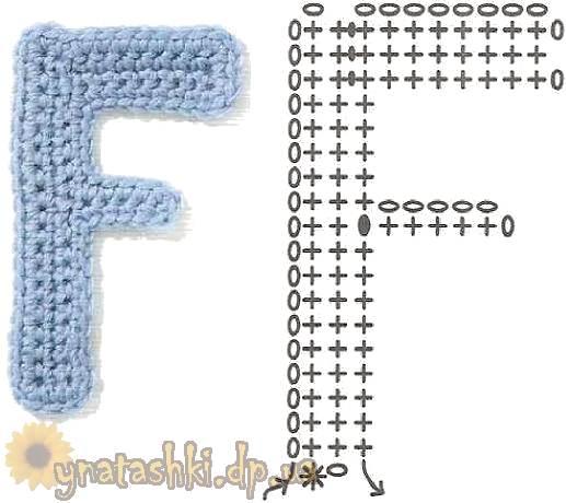 Вязаная буква F