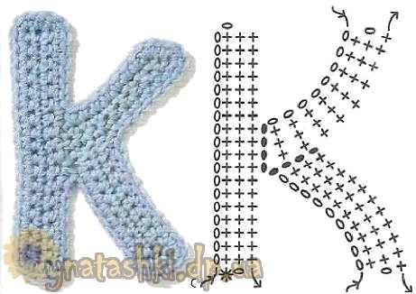 Вязаная буква K