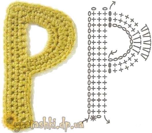 Вязаная буква P