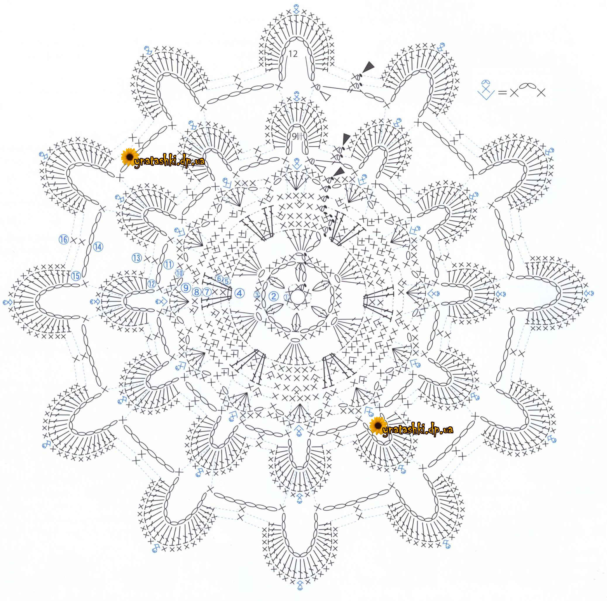 Схема вязания подставки цветка