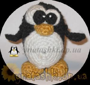 Игрушка пингвин TUX вязаный