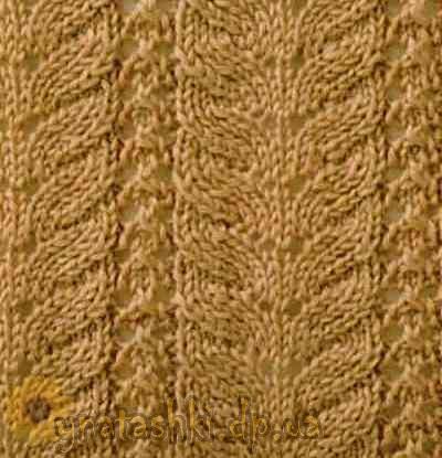 вязание спицами узоры из тонких ниток
